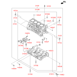 Блок цилиндров (Hyundai-KIA) 321TM2GA04C