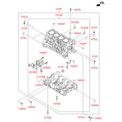 Блок цилиндров (Hyundai-KIA) 301TM2GA01D