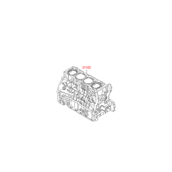 Блок цилиндров (Hyundai-KIA) 2Q01M25A01A