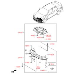 Защита двигателя (Hyundai-KIA) 29130C1000