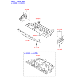 Защита двигателя (Hyundai-KIA) 291203K250