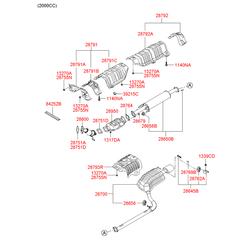 Каталитический нейтрализатор выхлопных газов (Hyundai-KIA) 289602G600