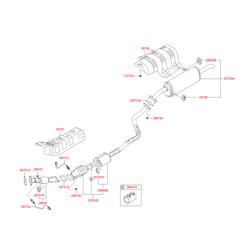 Прокладка выхлопной трубы (Hyundai-KIA) 287511M100