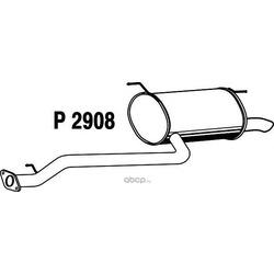 Глушитель выхлопных газов конечный (FENNO) P2908