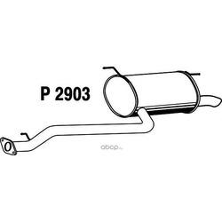 Глушитель выхлопных газов конечный (FENNO) P2903
