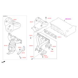 Защитный кожух выпускного коллектора двигателя (Hyundai-KIA) 285252G311
