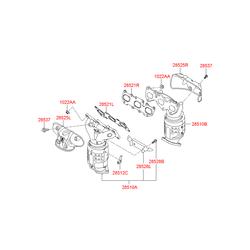 Прокладка выпускного коллектора (Hyundai-KIA) 285213C200