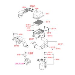 Фильтр воздушный (Hyundai-KIA) 281133K020
