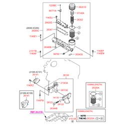 Перепускной клапан насоса гур (Hyundai-KIA) 263603C250
