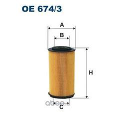 Фильтр масляный (Filtron) OE6743