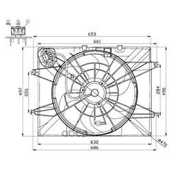 Вентилятор, охлаждение двигателя (Wilmink Group) WG1720515