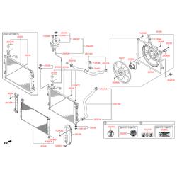 Вентилятор радиатора охлаждения в сборе (Hyundai-KIA) 253803R170
