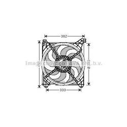 Вентилятор радиатора (Ava) HY7509