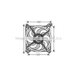 Вентилятор, охлаждение двигателя (Prasco) HY7509