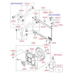 Вентилятор радиатора, 80вт (Hyundai-KIA) 253803A150