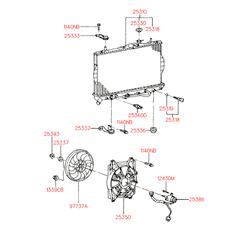 Крышка, радиатор (Hyundai-KIA) 2533033101