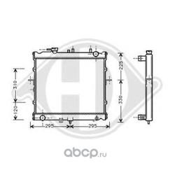 Радиатор, охлаждение двигателя (DIEDERICHS) 8652086