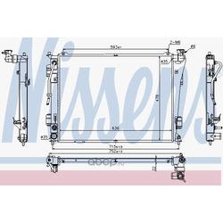 Радиатор охлаждение двигателя (Nissens) 675012