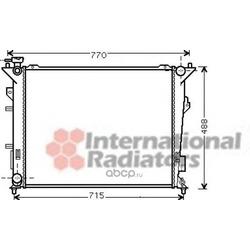 Радиатор, охлаждение двигателя (VAN WEZEL) 83002107