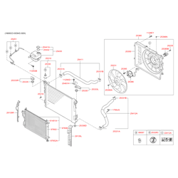 Вентилятор радиатора двигателя (Hyundai-KIA) 252313K460