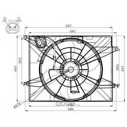 Вентилятор охлаждения радиатора (NRF) 47561