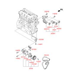 Помпа водяная (Hyundai-KIA) 251102G500