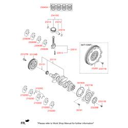Маховик двигателя (Hyundai-KIA) 232002E500