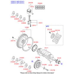Коленвал (Hyundai-KIA) 231113C131