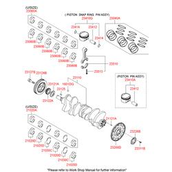Коленвал (Hyundai-KIA) 231103C131