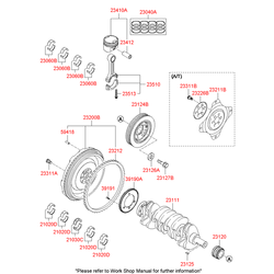 Вкладыши шатунные комплект (Hyundai-KIA) 230602G130