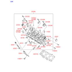 Головка блока цилиндров (Hyundai-KIA) 22100372B0