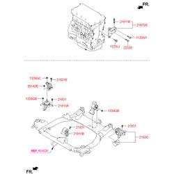 Подушка двигателя (Hyundai-KIA) 219503S000