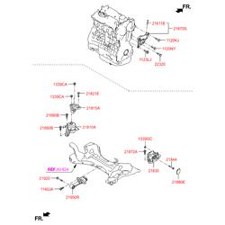 Опора двигателя левая (Hyundai-KIA) 21830D4100