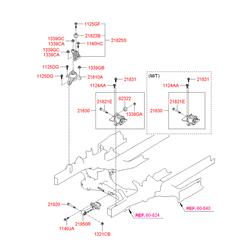 Демпфер поперечины моторного отсека (Hyundai-KIA) 218233K000
