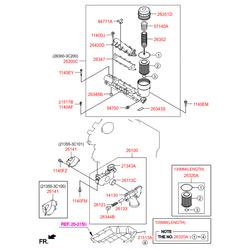 Насос масляный (Hyundai-KIA) 213103C200