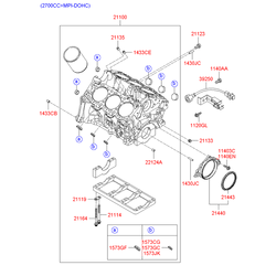 Блок цилиндров (Hyundai-KIA) 2110038106