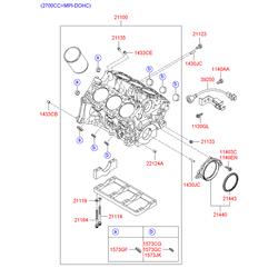 Блок цилиндров (Hyundai-KIA) 2110038B00