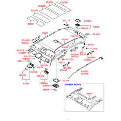Лампа (Hyundai-KIA) 1864510019
