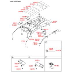 Лампочка подсветки багажника 5вт (Hyundai-KIA) 1864505019N