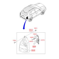 Лампа стопсигнала (Hyundai-KIA) 1864421058