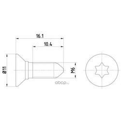 Болт крепления тормозного диска комплект 2 шт (Textar) TPM0008