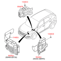 Болт с шестигранной головкой (Hyundai-KIA) 1140306166K