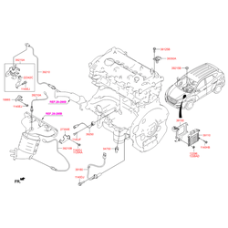 Кислородный датчик двигателя (Hyundai-KIA) 392102E100
