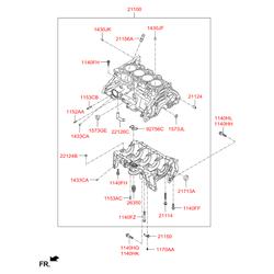 Блок цилиндров (Hyundai-KIA) 211002E091