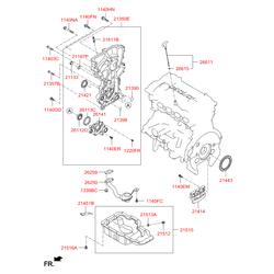 Боковая крышка блока двигателя (Hyundai-KIA) 213502E030