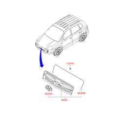 Эмблема декоративная пластиковая (Hyundai-KIA) 8635326000