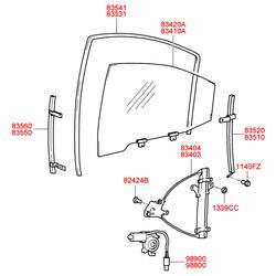 Стеклоподъемника механизм (Hyundai-KIA) 8340338011