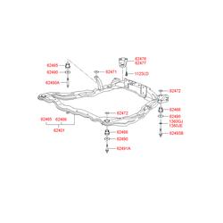 Сайлентблок подрамника моторного отсека (Hyundai-KIA) 6248538100