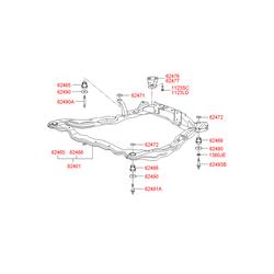 Подрамник моторного отсека (Hyundai-KIA) 6240538600