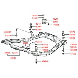 Поперечная балка подвески (Hyundai-KIA) 6240538101